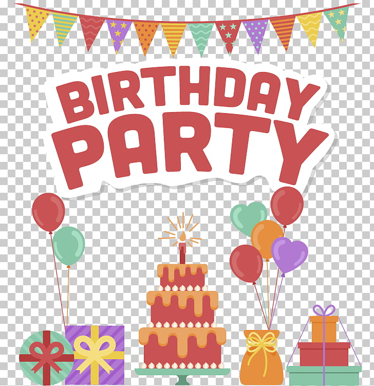 Birthday Party Posters, Birthday Party banner PNG clipart.