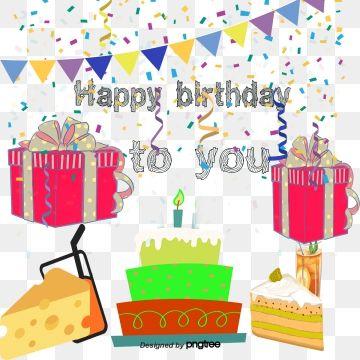 Vector Decorative Birthday Celebration Party, Birthday Clipart.