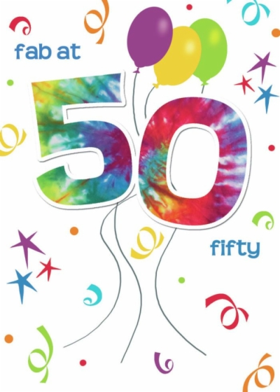 50th birthday clip art , Free clipart download.