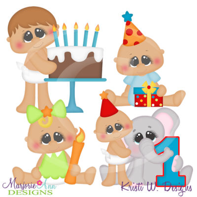 Birthday Clipart Baby Boy Svg.