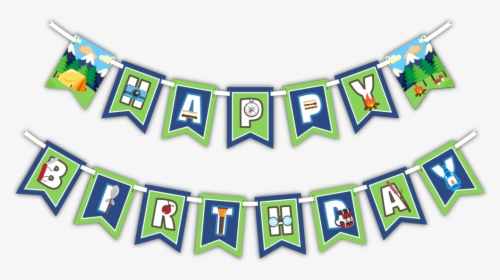 Happy Birthday Camping Banner, HD Png Download , Transparent.