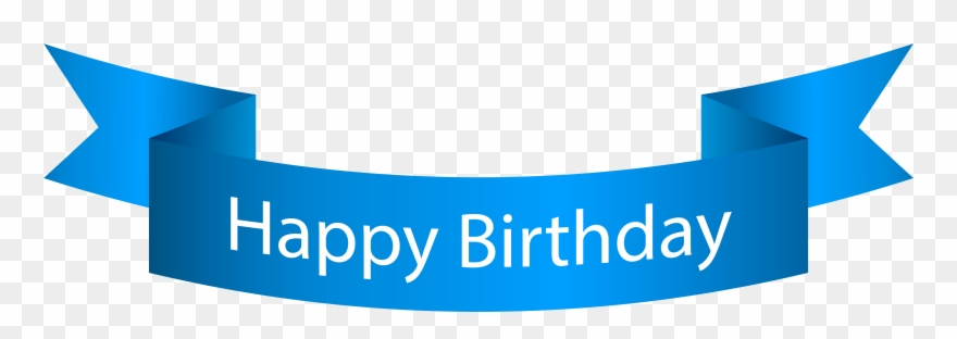 Clip Art Happy Birthday Banner Blue Png Transparent Png.