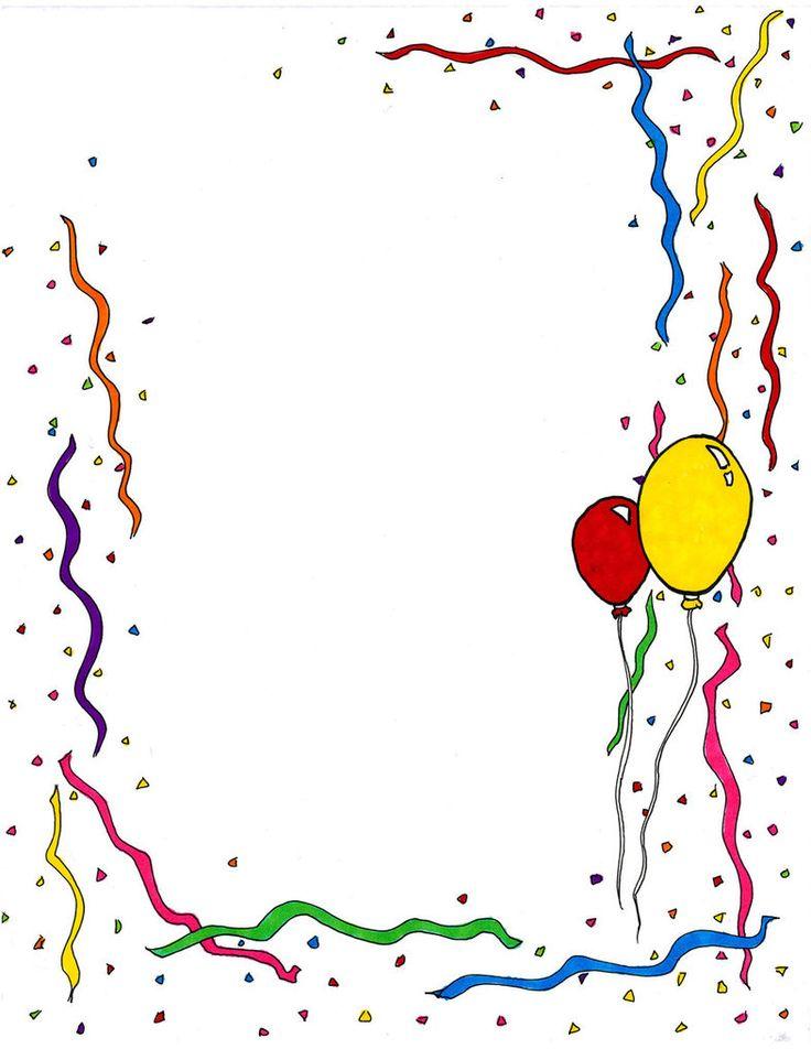 Birthday Clip Art + Free + Border.
