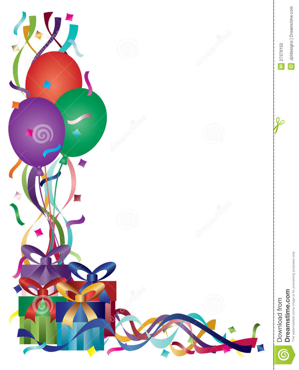 birthday clipart borders