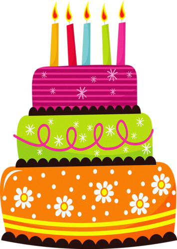 Cute Birthday Cake Clipart.