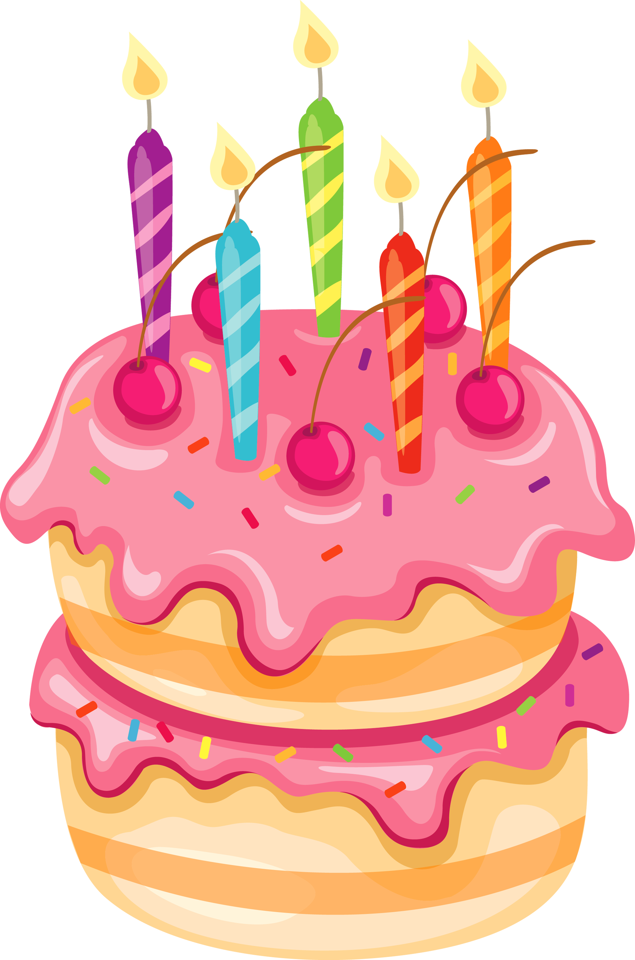 Cute Birthday Cake Clipart.