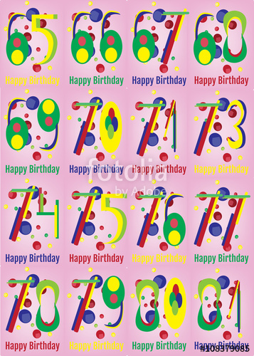 Happy Birthday Card Set. Happy Birthday Wrapping Paper.