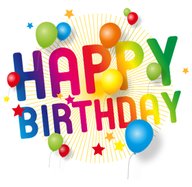 Happy Birthday PNG DESIGN ELEMENTS free.