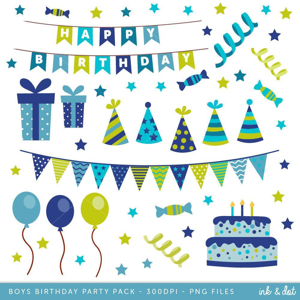 Happy Birthday Clip art, Boys Birthday clipart, Birthday.