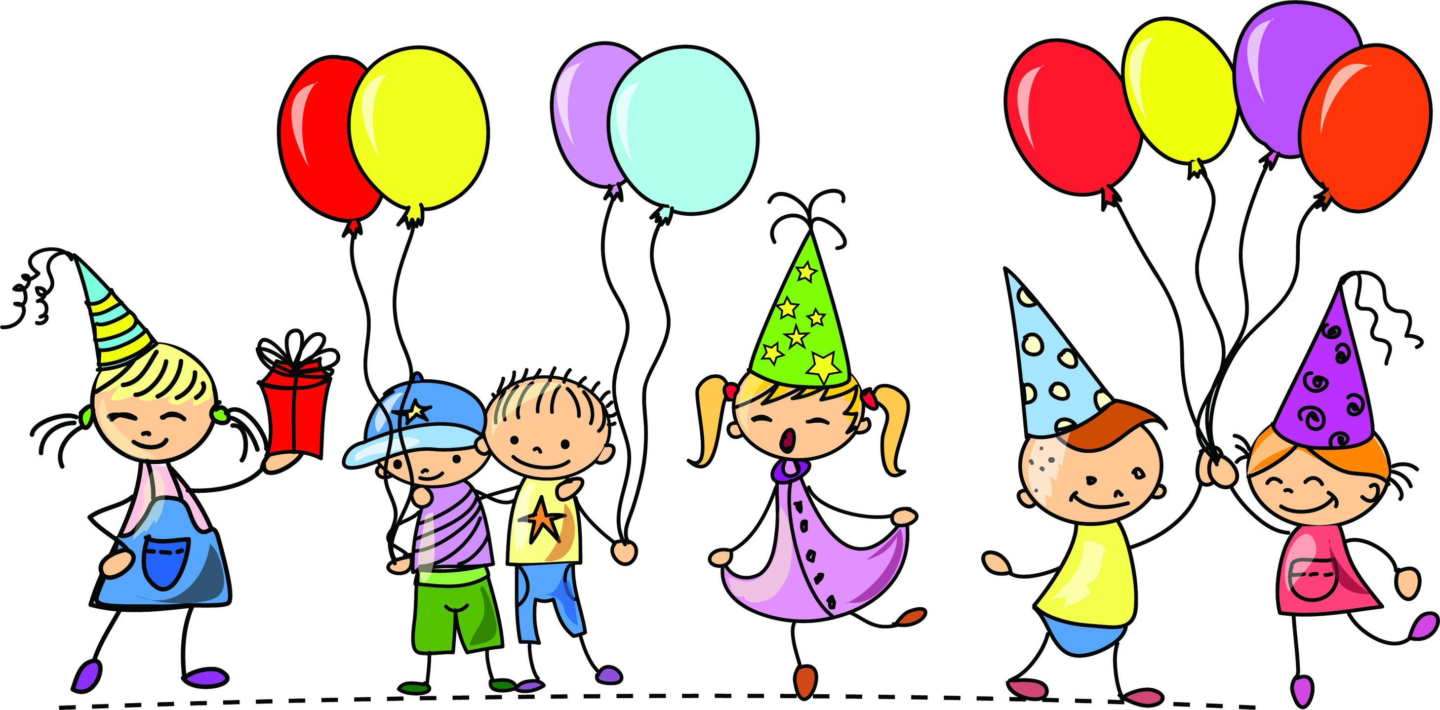 Children Birthday Party Clipart.