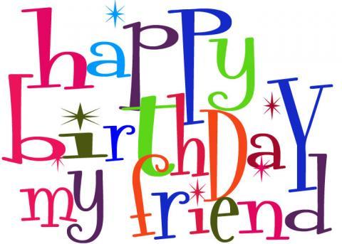Happy Birthday Clipart Guys.