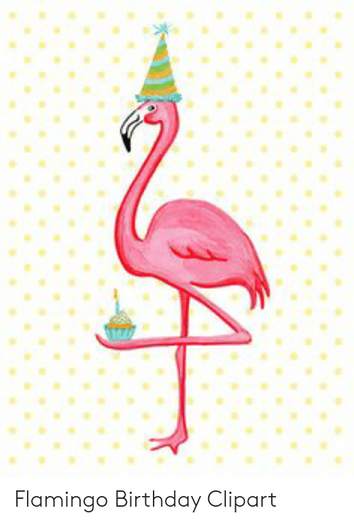 Flamingo Birthday Clipart.