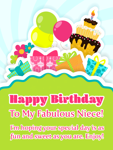 Birthday Wishes Cards for Niece.