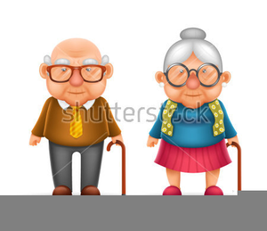 Old Lady Happy Birthday Clipart.