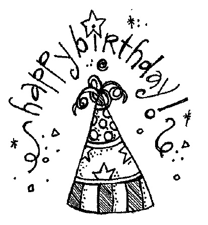 Black And White Birthday Clip Art & Black And White Birthday Clip.