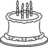 Free Black And White Birthday Clip Art.