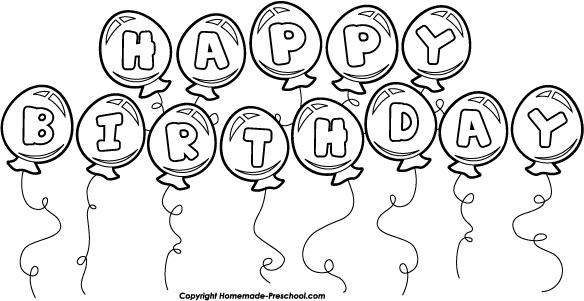 Best Birthday Clip Art Black And White #9132.