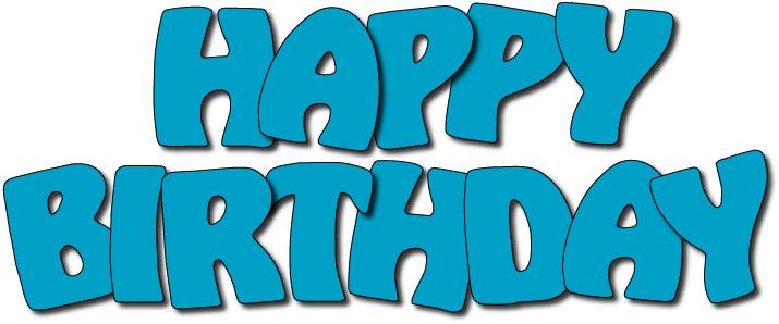 Birthday Clipart Free Blue.