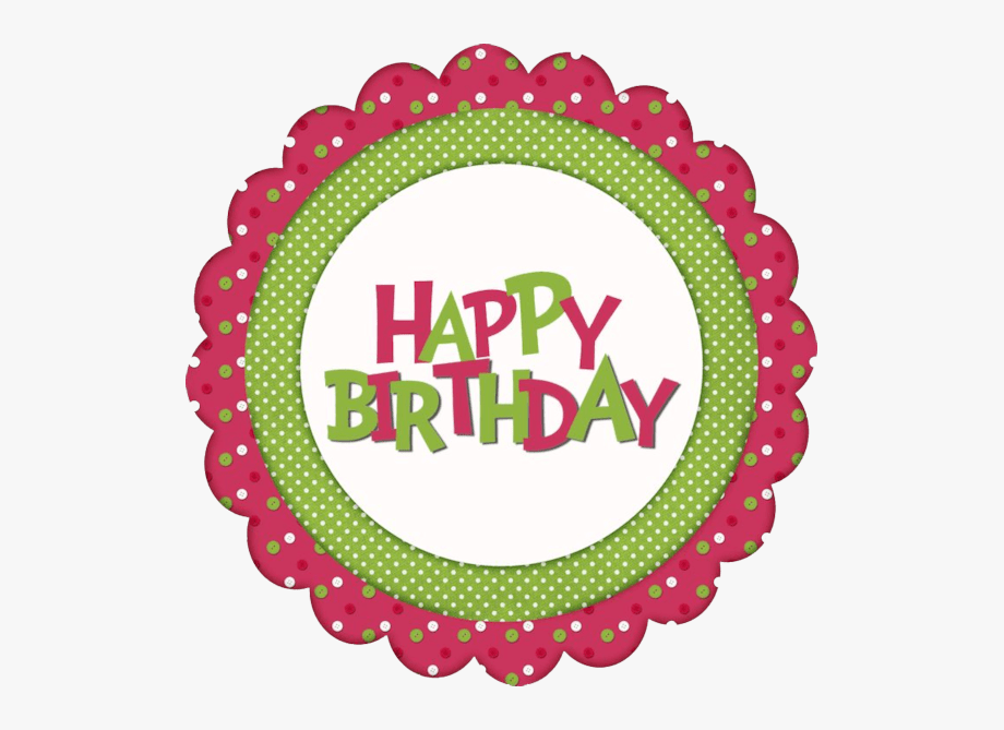 Free Printable Girls Pink Happy Birthday Cupcake Toppers.