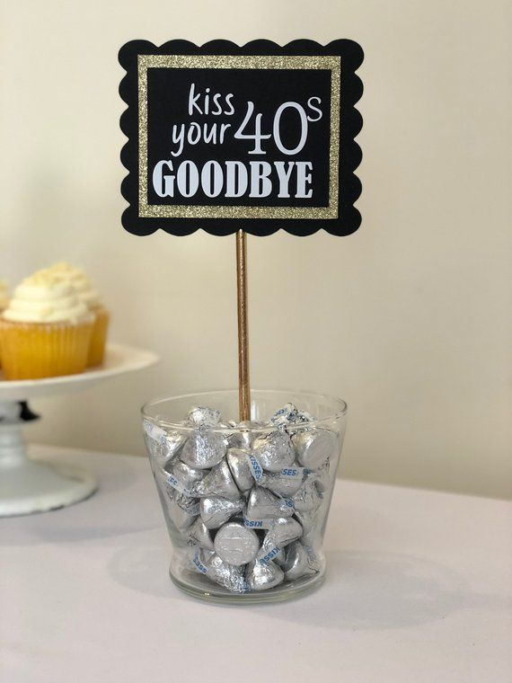 KISS YOUR 40s GOODBYE // 4pc set // Adult 50th Birthday.