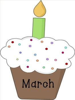 Cupcake Months of the Year.