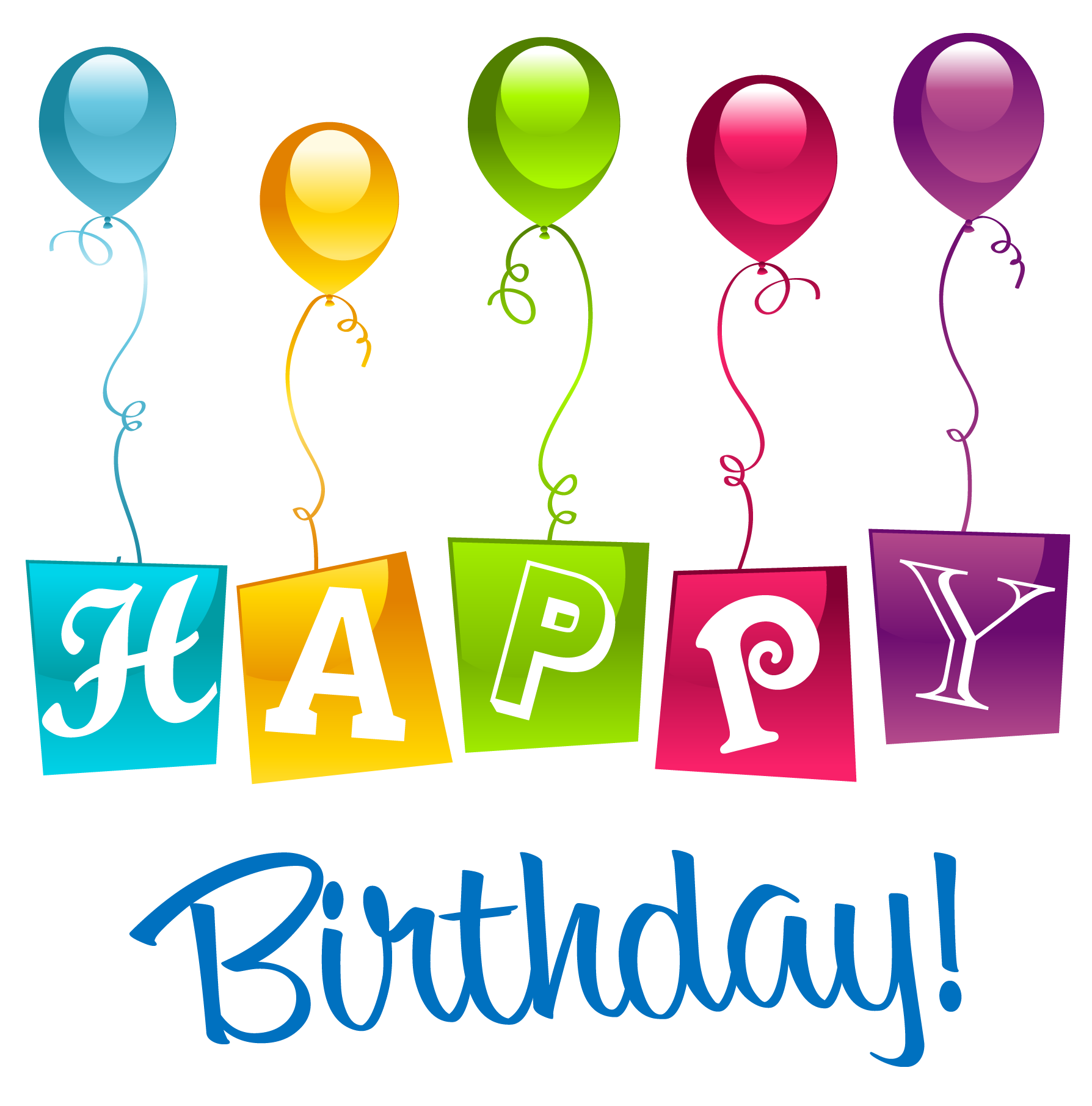 Happy Birthday PNG Clipart Picture.