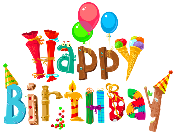 Happy Birthday PNG images free download.