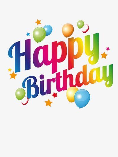 Happy Birthday English Words, Birthday Clipart, Birthday.