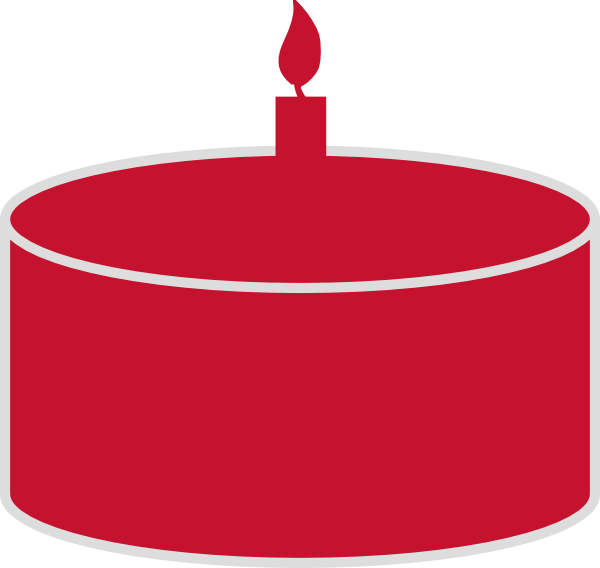 Red Birthday Cake Silhouette Clip Art at Clker.com.