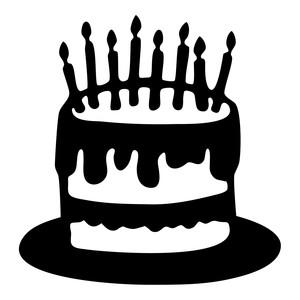 Silhouette Design Store: birthday cake.