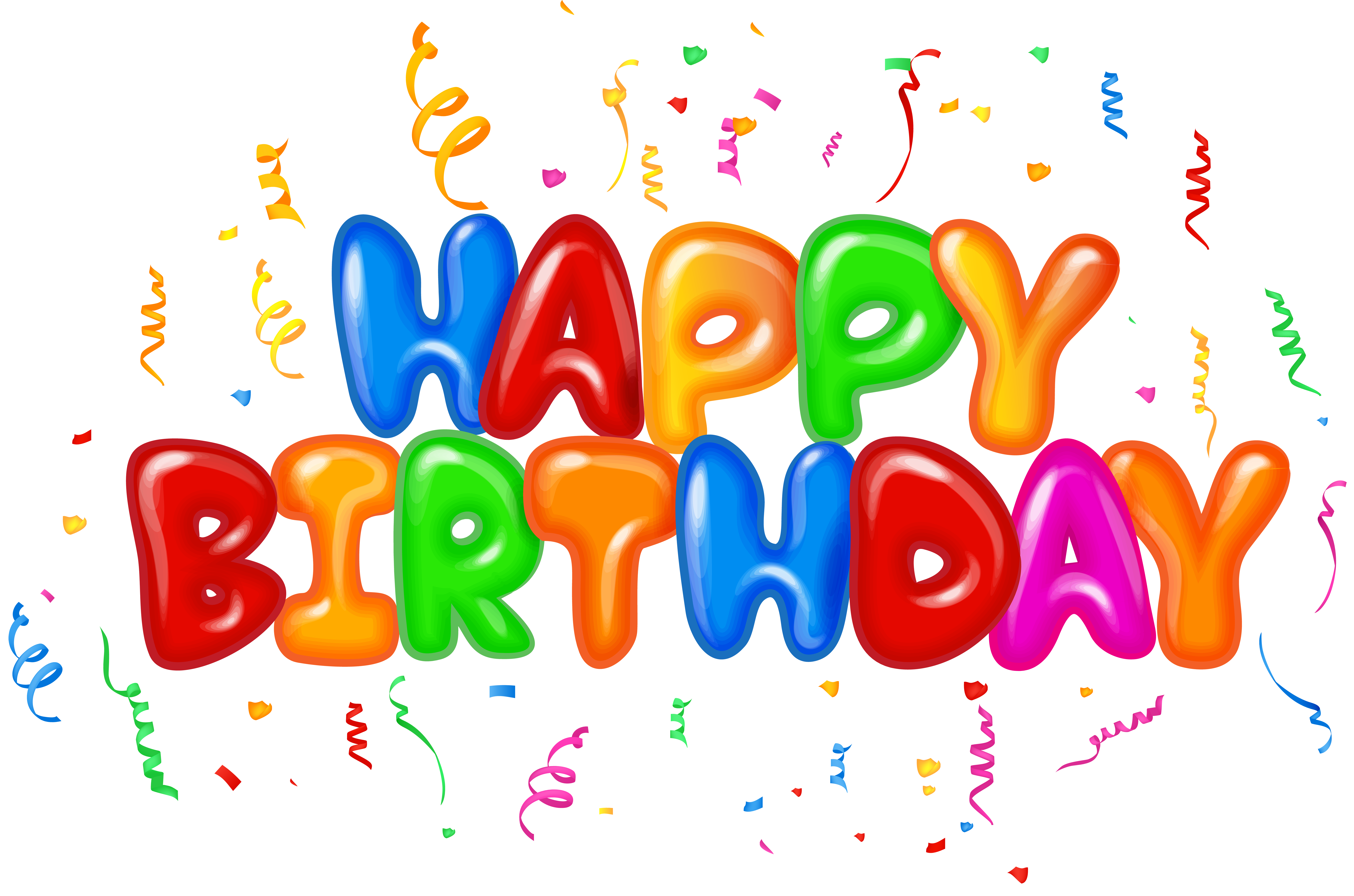 Happy Birthday Text Decor PNG Clip Art Image.