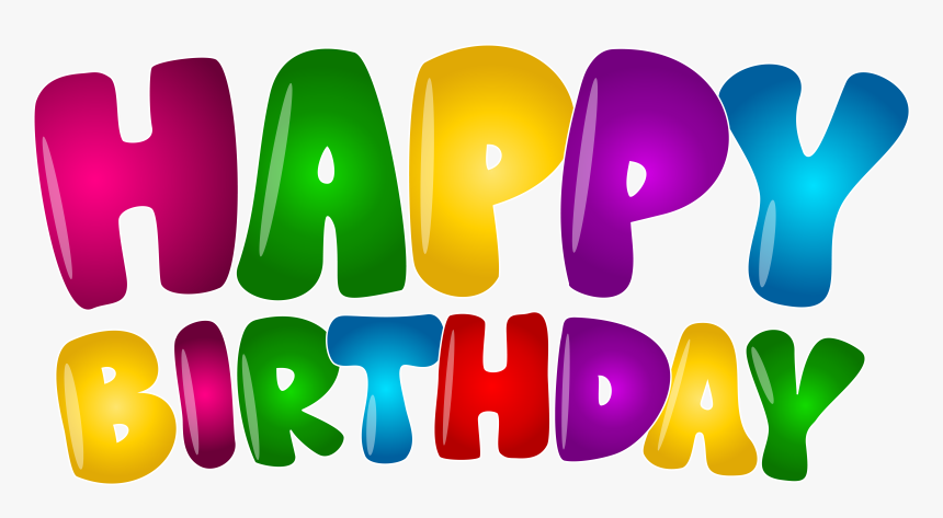 Transparent Happy Birthday Banners Clipart.