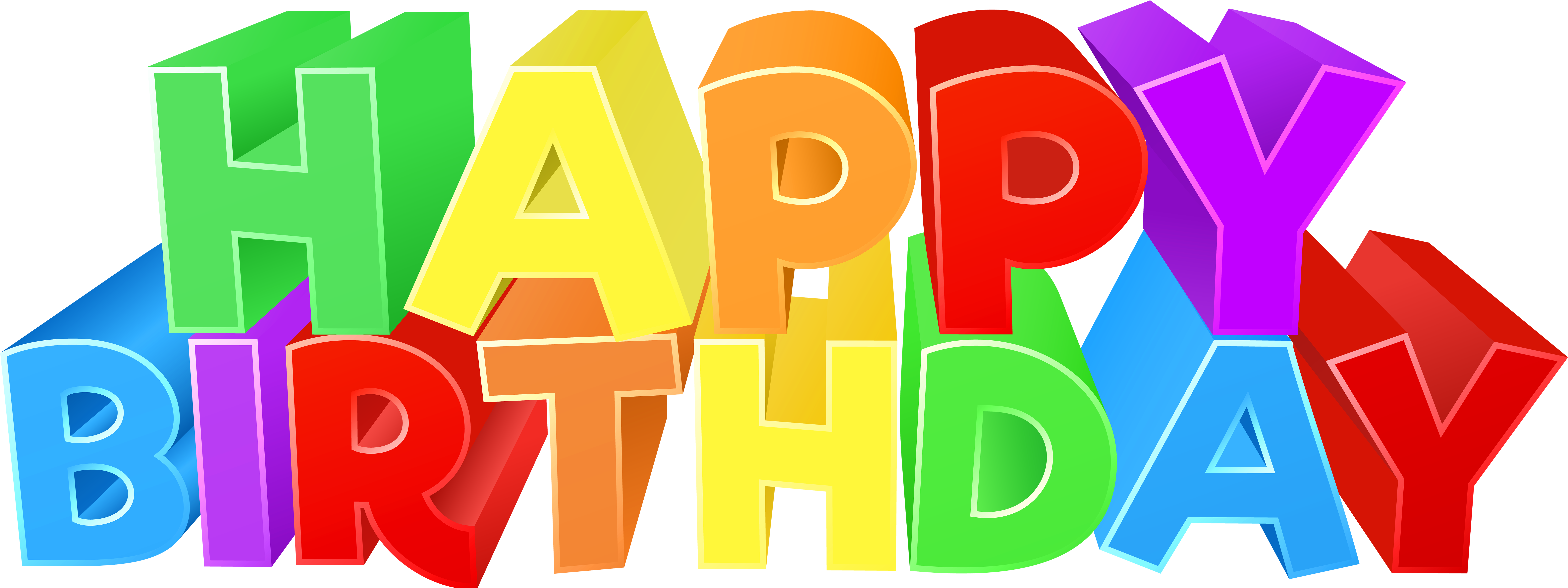 Birthday Colorful Png Clip Art Image Gallery.