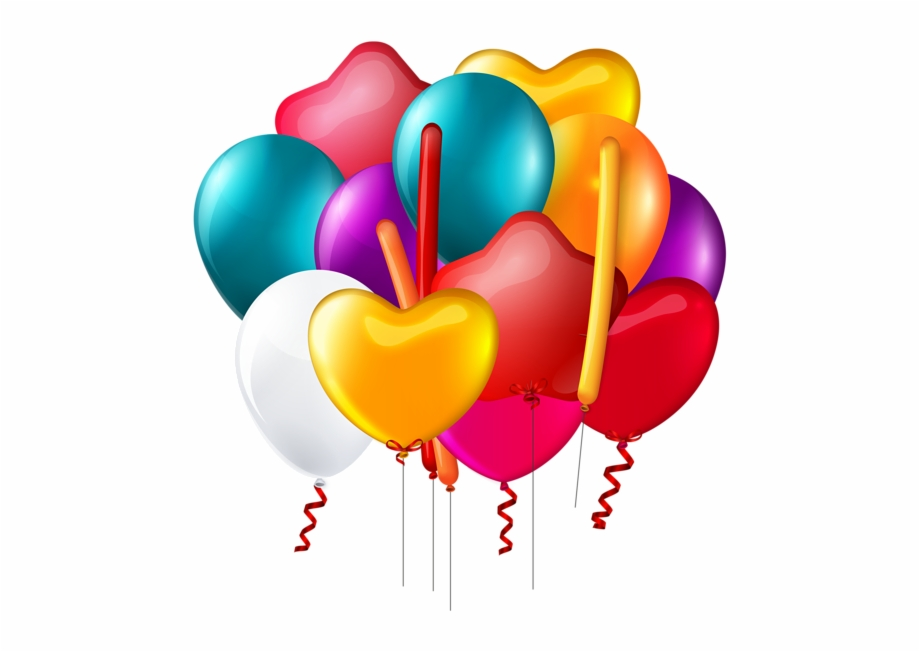 Balloons Bunch Transparent Png Clip.