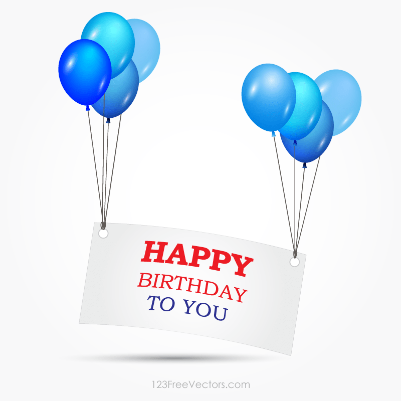 Happy Birthday Banner Clipart Vector.