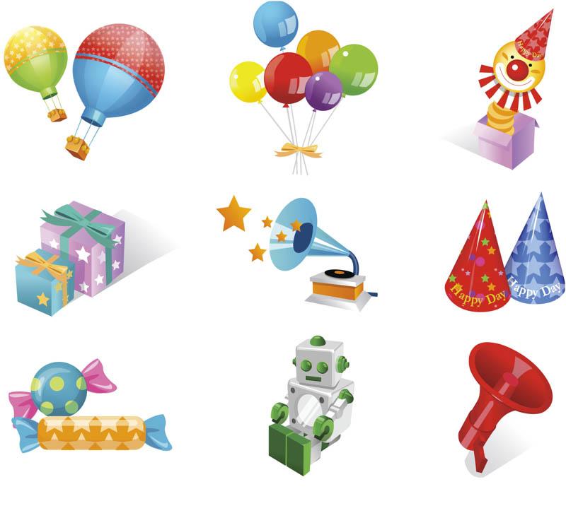 Birthday vector clip art.