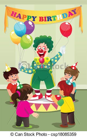 Clown carrying balloons to kids birthday party.