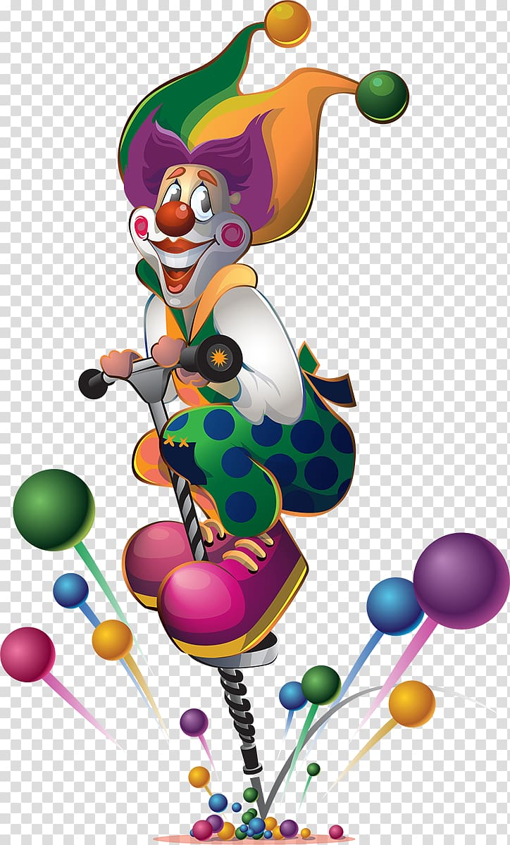 Clown Happy Birthday to You , clown transparent background PNG.