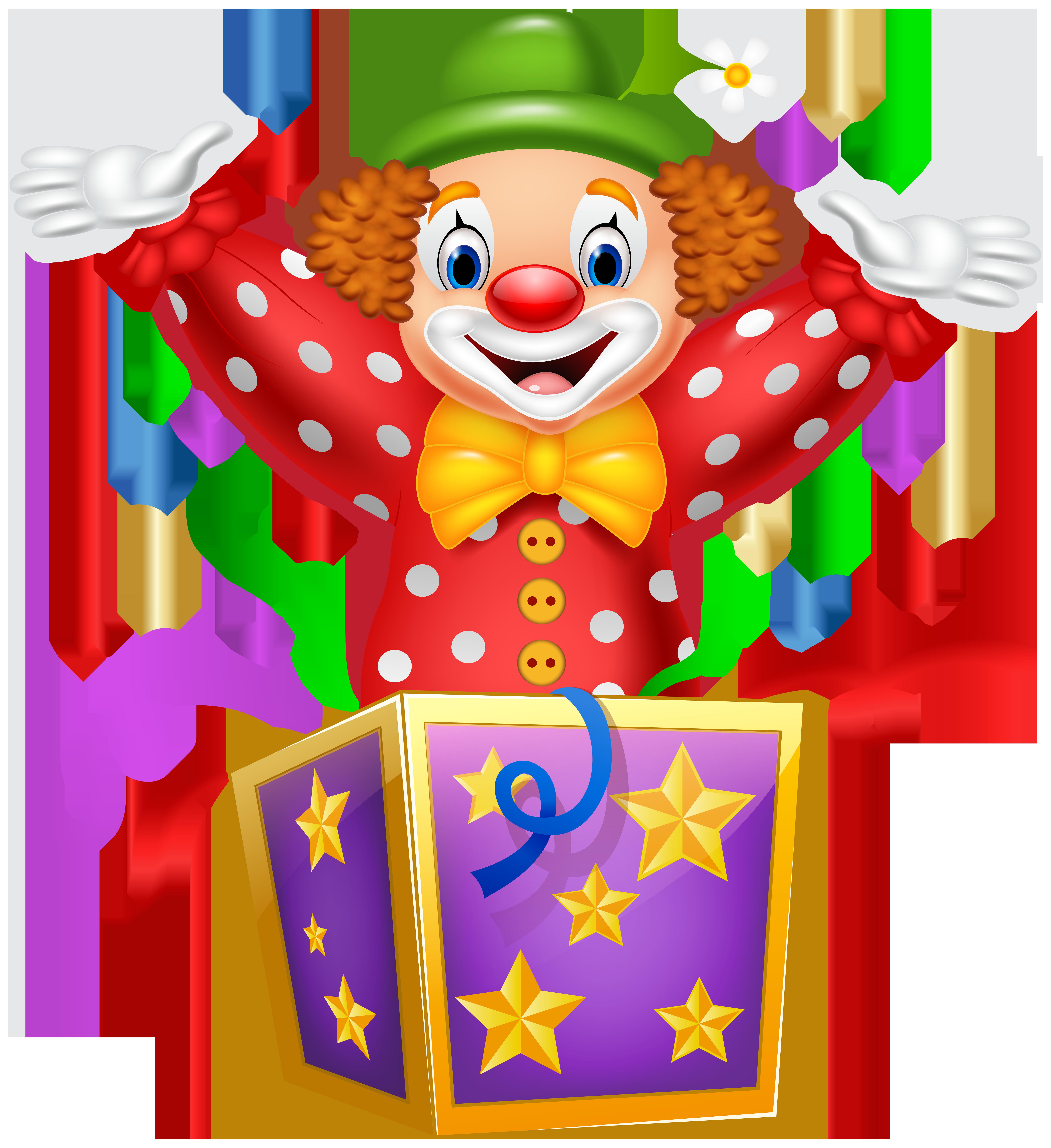 Party Clown Transparent PNG Image.