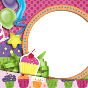 Birthday Collage Frame PNG Images.