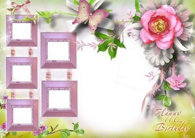 Birthday Collage Frame Png & Free Birthday Collage Frame.png.