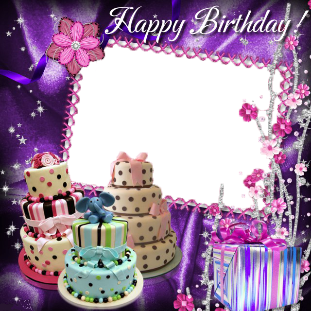 Birthday Collage Frame Free PNG Image.