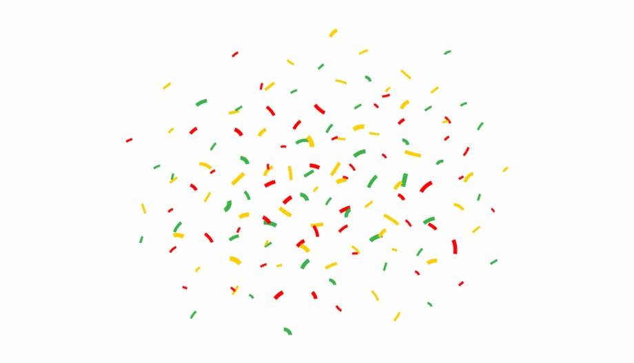 Colorful Confetti Vector Background For Birthday Celebration.