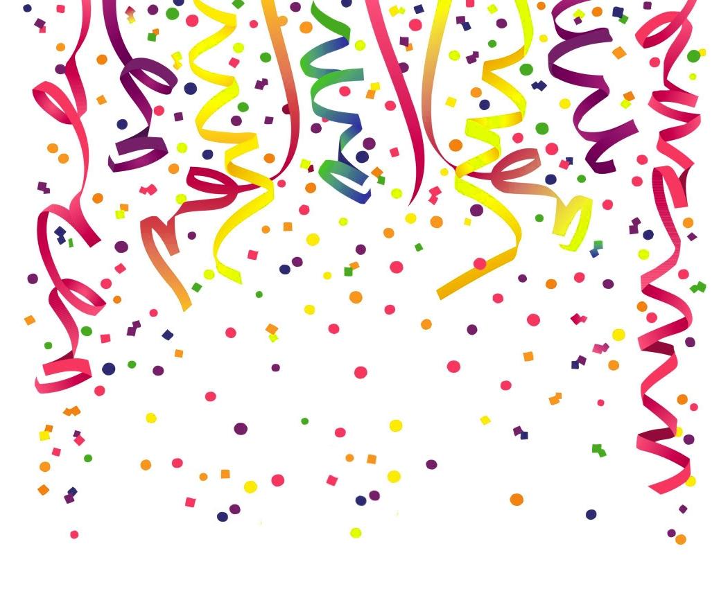 Birthday confetti clipart 2 » Clipart Station.