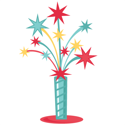 3854 Fireworks free clipart.