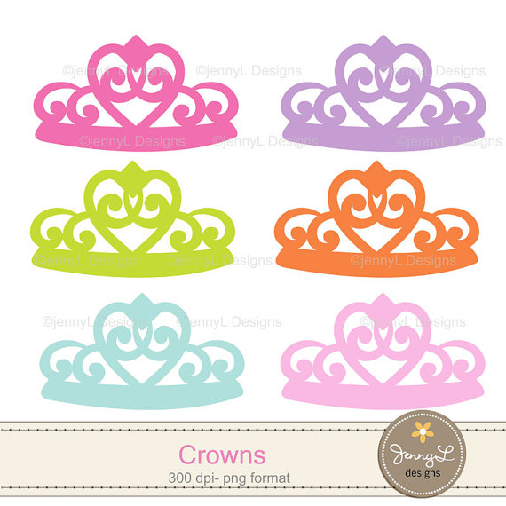 Princess Crown, Tiara Clipart Girl party for Birthday.
