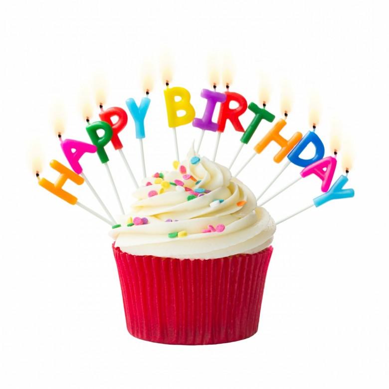 Happy Birthday Cupcake Clip Art and Nice Photo.