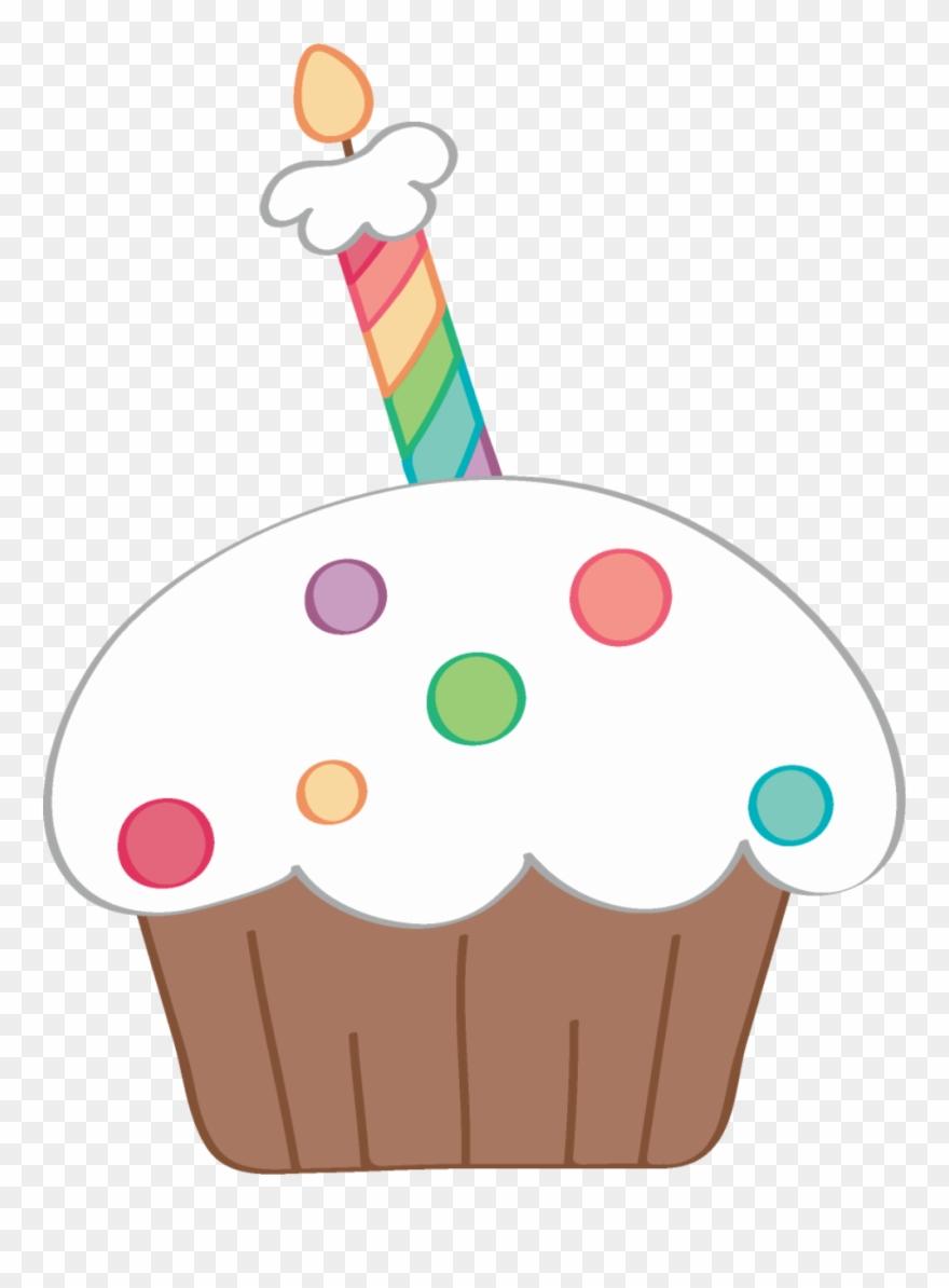 ✿⁀ceℓebrate‿✿⁀ Happy Birthday, Cupcake Clipart, Cupcake.