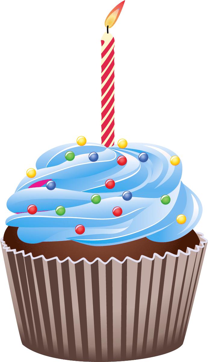 Birthday cake clip art cupcake.