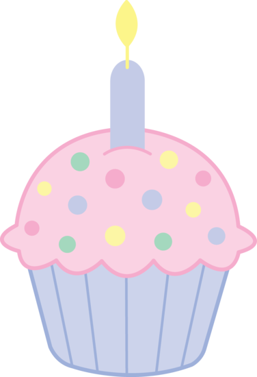 Cute Birthday Cupcake Clipart.